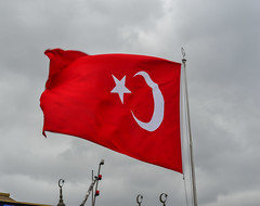 Waving fabric flag of Turkey (phuong.sg@gmail.com) Tags: union ankara backdrop background celebrate closeup cloth country crescent design dimensional east europe fabric flag fold frame full government islam moving muslim nation national patriotic pride red ripple silk state stripes swing symbol textile texture tissue travel turkey turkish vivid wallpaper wave waving wavy wind