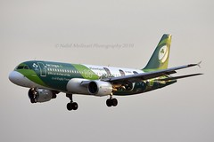 """""""St Sebastian"""" Aer Lingus EI-DEO Airbus A320-214 cn/2486 painted in """"Irish Rugby Team"""" special colours 05-2015 @ EGLL / LHR 15-05-2019 (Nabil Molinari Photography) Tags: stsebastian aer lingus eideo airbus a320214 cn2486 painted irishrugbyteam special colours 052015 egll lhr 15052019"""