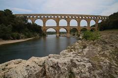 Le Pont du Gard - UNESCO World Heritage site, one of Les Grands Sites de France (kitmasterbloke) Tags: pontdugard nimes france unesco grandsitesdefrance aqueduct roman ancient river canal limestone heritage outdoor civilengineering