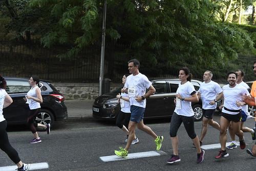 Pedro Sánchez participa en la carrera contra la violencia de género celebrada en Madrid (09/06/2019)