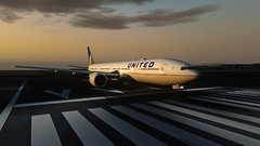 [P3D v4.5] SFO RW28R ready to go! (danielrds) Tags: p3d prepar3d b777 b77w ua837 ual837 n2333u united sfo ksfo nrt rjaa usa japan sky sunrise