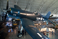 Vought F4U Corsair, National Air and Space Museum, Udvar-Hazy Center, Chantilly, Virginia (Roger Gerbig) Tags: nationalairandspacemuseum smithsonian stevenfudvarhazycenter aviation museum rogergerbig chantilly virginia dulles voughtf4ucorsair