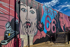 Wall Art Route 66 (Kool Cats Photography over 12 Million Views) Tags: oktraveltakeover abstract abstractart alleyway alley art buildings canon6d canon24105mmf4lislens clouds colorful grafitti graffitti luminar oklahoma outdoor outdoors photography streetart streetphotography textured textures wall wallart yukom