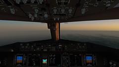 [P3D v4.5] from Oakland airspace (danielrds) Tags: p3d prepar3d b777 b77w ua837 ual837 n2333u united sfo ksfo nrt rjaa usa japan sky sunrise