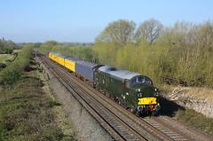 37057 Willington 13/4/19 (Ram 69) Tags: 37057 3q17 networkrailtesttrain class37 britishrailgreenlivery