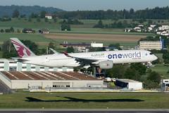 Qatar Airways - Airbus A350 - A7-ALZ (yak_40) Tags: zrh qatarairways qatar a350 airbus350900 airbusa350941 a7alz oneworldcs