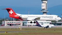 Helvetic Airways Fokker 100 HB-JVG | Milano - Malpensa (MXP-LIMC) | 31st May 2019 photo #2 (Brando Magnani) Tags: