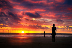 Another Place (lfeng1014) Tags: anotherplace crosbybeach liverpool england uk antonygormley beach sunset canon5dmarkiii ef70200mmf28lisiiusm landscape landmark sculpture silhouette travel lifeng