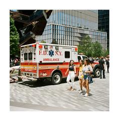 FILM - Another ambulance (fishyfish_arcade) Tags: newyork 6x6 film mediumformat kodak ambulance analogphotography foldingcamera filmphotography portra400 analogcamera filmisnotdead istillshootfilm zeissmessikonta52416