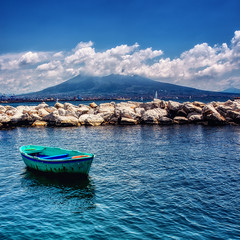 Naples Italy (seantindale) Tags: naples italy europe boat bay clouds sea travel vesuvius mountains olympus omdem1markii