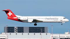 Helvetic Airways Fokker 100 HB-JVG | Milano - Malpensa (MXP-LIMC) | 31st May 2019 photo #1 (Brando Magnani) Tags: