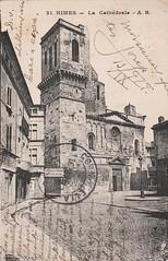 Nimes, La Cathédrale (esta_ahi) Tags: nimes catedral postal antigua postales antiguas france francia