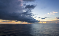 On a cruise / В круизе (dmilokt) Tags: море sea остров island корабль лодка ship boat dmilokt природа nature пейзаж landscape гора mountain закат рассет солнце sun sunset sunrise