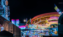 fun and games (pbo31) Tags: california black color june night nikon bayarea sanmateocounty 2019 boury pbo31 d810 carnival motion ride spin fair butler midway amuesments lightstream blur