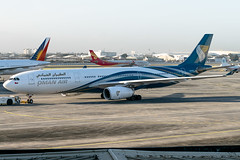 Oman Air - Airbus A330-343 / A4O-DH @ Manila (Miguel Cenon) Tags: oman omanair omanaira330 omanaira333 wya330 wya333 rpll airplanespotting airplane apegroup appgroup airport airbus airbusa330 a330 a333 airbusa333 ppsg planespotting philippines manila nikon naia d3300 wings widebody widebodyjet wing twinengine twin fly flying clouds sky rollsroyce rrtrent trent700 window wheel winglet wide plane aircraft aviation a4odh