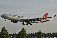 """Lady Luck"" Virgin Atlantic Airways G-VWIN Airbus A340-642 cn/736 std at LDE 09-01 - 23-05-2017 wfu 18 Mar 2018 std at TUP 26-03 - 04-05-2018 returned to service 20 Jul 2018 @ EGLL / LHR 16-05-2019 (Nabil Molinari Photography) Tags: ladyluck virgin atlantic airways gvwin airbus a340642 cn736 std lde 0901 23052017 wfu 18 mar 2018 tup 2603 04052018 returned service 20 jul egll lhr 16052019"