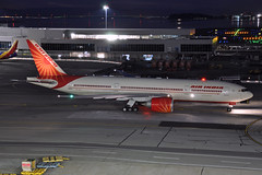 VT-ALG (Rich Snyder--Jetarazzi Photography) Tags: airindia aic ai boeing 777 777200lr 777237lr b777 b77l vtalg departure departing sanfranciscointernationalairport sfo ksfo millbrae california ca airplane airliner aircraft jet plane jetliner ramptowera rcta atower dark night lights