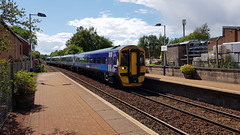 Abellio Scotrail Class 158's 158733 and 158730 arriving at Maryhill Station Platform 1 with service 2W58 (10-06-19) (Ricardo_Cameron) Tags: trains abellio scotrail class158 express sprinter brel 158733 158730