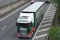 Eddie Stobart Scania H2498 PN16PFK - M60, Stockport (dwb transport photos) Tags: stockport scania m60 eddiestobart h2498 pn16pfk shielrosemary truck hgv