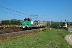 CRIS de passage en vallée du Rhône (railmax07) Tags: train ferroviaire bb66400 cris corail infra sncf perrigny avignon tain plm