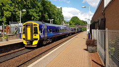 Abellio Scotrail Class 158 158730 departing Maryhill Station Platform 1 with 158733 while working service 2W58 (10-06-19) (Ricardo_Cameron) Tags: trains abellio scotrail class158 express sprinter brel 158733 158730