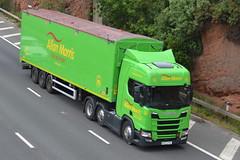 Allan Morris Transport Scania PO17UTB - M60, Stockport (dwb transport photos) Tags: allanmorristransport scania hgv truck po17utb m60 stockport