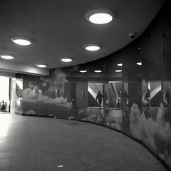 Urban Solitude - in Multitude (ucn) Tags: berlin rolleiflex35b mxevs mutar07x u8 street mitte undergroundstation