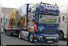 """Scania R Streamline """"Günter Pille"""" (uslovig) Tags: truck lorry camion camiones lkw lastwagen lastkraftwagen trucker country festival geiselwind franken franconia bavaria bayern deutschland germany scania r streamline günter pille peace not war"""