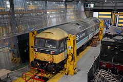 47712 Crewe Diesel Depot (British Rail 1980s and 1990s) Tags: train rail railway loco locomotive lmr londonmidlandregion mainline wcml westcoastmainline cheshire livery crewe liveried traction diesel crewedieseldepot locomotiveservicesltd depot shed tmd cd br britishrail openday allchange brush sulzer type4 47712 scotrail ladydianaspencer