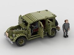 газ 61 (gaz 61) (dimkablinov) Tags: car lego 4x4 gaz retro technic vehicle moc