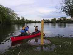 Taking a chance to go canoeing on our swollen lake. (Trinimusic2008 -blessings) Tags: trinimusic2008 judymeikle nature bench hbm june 2019 walkwithpeggy toronto to ontario canada waterfrontrecreationaltrail asharedpath cityoftoronto lake water candid lakeontario trees mimico raptors wethenorth nbafinals game4