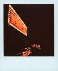 McBride Neon 2 (tobysx70) Tags: polaroid originals color 600 instant film ice cream edition light blue slr680 camera mcbride neon west oak street denton texas tx music pawn shop sign incandescent bulb night nocturnal lit illuminated reflection handheld polacon2018 polacon3 polacon 092918 toby hancock photography