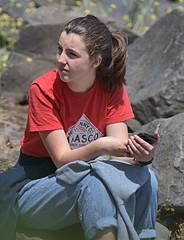 Tabasco Shirt (Scott 97006) Tags: girl woman female seated tabasco