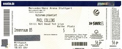 PHIL COLLINS (Philippe Haumesser) Tags: billet billets ticket tickets concertticket concertickets groupe groupes band bands rock philcollins