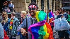 Rainbow colours - demonstration The Hague (Ramireziblog) Tags: gay lesbian rainbow denhaag rights homo thehague demonstratie lhbt primark protest street