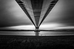 Under the bridge (phildigs89) Tags: humber bridge humberside northlincolnshire suspension hull river architecture black white nikon d7200