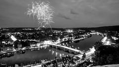 Fire - 6903 (✵ΨᗩSᗰIᘉᗴ HᗴᘉS✵62 000 000 THXS) Tags: fire firework fireworks monochrome blackandwhite bridge belgium europa aaa namuroise look photo friends be yasminehens interest eu fr party greatphotographers lanamuroise flickering night