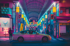 Electric Dreams (Anthonypresley1) Tags: street japan night city japanese asia travel architecture view modern evening tokyo asian scene road downtown district urban cityscape business famous landmark twilight lights traffic light sky neon metropolis tourism background traditional building illumination kyoto town tourist tower people skyline illuminated shrine culture shop scenery lamp walk sign skyscraper dark anthony presley anthonypresley