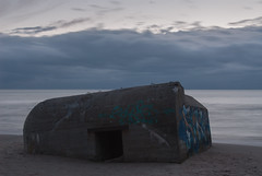 Dissapearing Past (Rind Photo) Tags: denmark nikkor ccd water blue rindphoto clauschristoffersen bunker ww2 grafitti skies sky skiveren nikon
