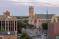 Sunset over Central Lutheran Church (Sam Wagner Photography) Tags: central lutheran close up church south minneapolis downtown traffic sunset colorful lights architecture beautiful religion midwest minnesota america usa travel landmark