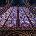 Sainte Chapelle, détail d'un vitrail de la Chapelle