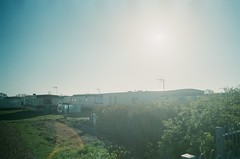 30860002 (thophi24) Tags: 35mm analog analogue trailer park holiday olympus olympusom10 fuji