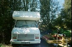 30880015 (thophi24) Tags: 35mm analog analogue trailer park holiday olympus olympusom10 fuji