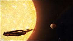 belle surprise (CMDR Snarkk) Tags: elite dangerous space nebula gas giant planet star krait guardian