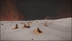 rhizomes (CMDR Snarkk) Tags: elite dangerous space nebula gas giant planet star krait guardian