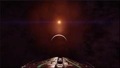 en orbite autour d'un ww terraformable 14ksl du petit chaperon rouge (CMDR Snarkk) Tags: elite dangerous space nebula gas giant planet star krait guardian