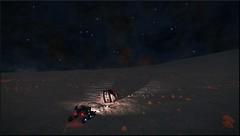 Recherche de materiaux (CMDR Snarkk) Tags: elite dangerous space nebula gas giant planet star krait guardian