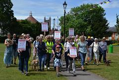 Setting off from Gostrey Meadow (Chrispics Photography) Tags: farnham walking festival lions heartstart