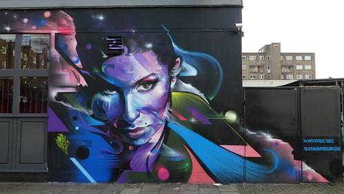 Mr Cenz graffiti, Camden