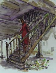 Manoir de Kernault (christian angué) Tags: escalier architecture grenier aquarelle ecurie croquis bretagne finisfere